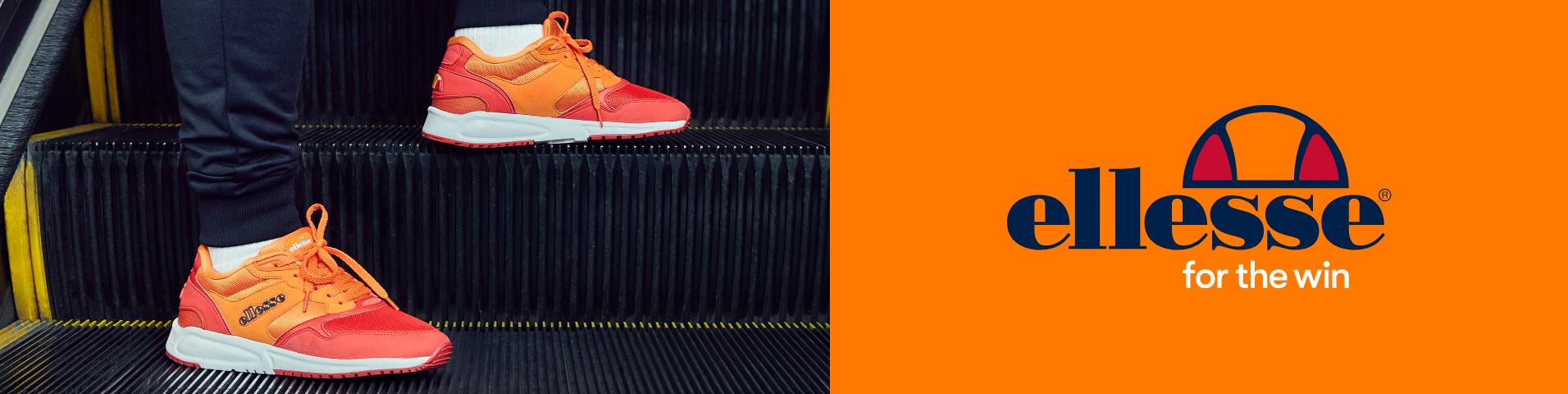 Auf ganz leisen Sohlen: weiße Ellesse Sneaker für Herren