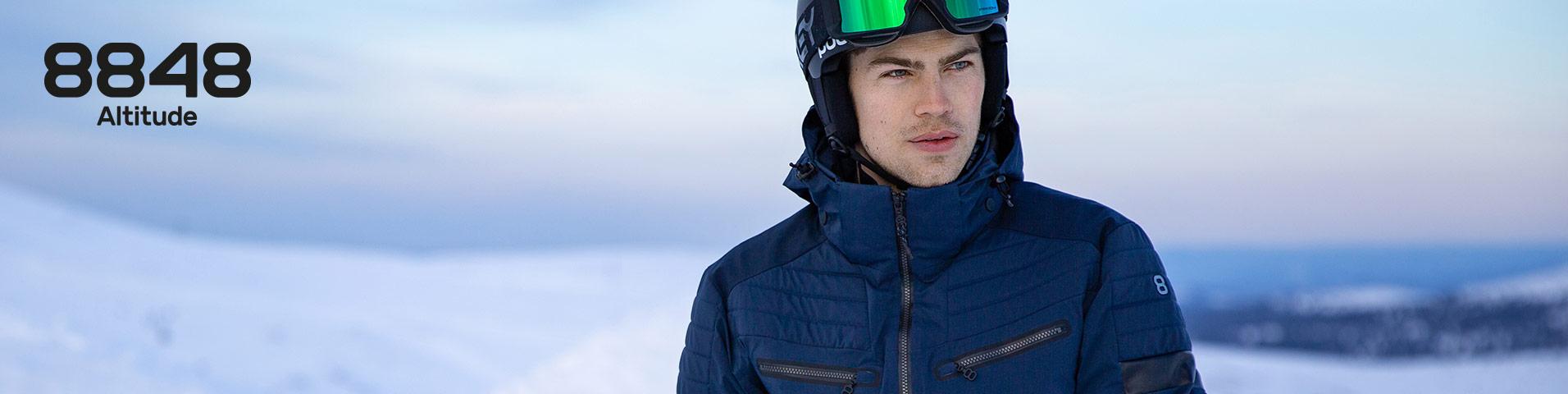 8848 altitude castor rot herren ski jacke