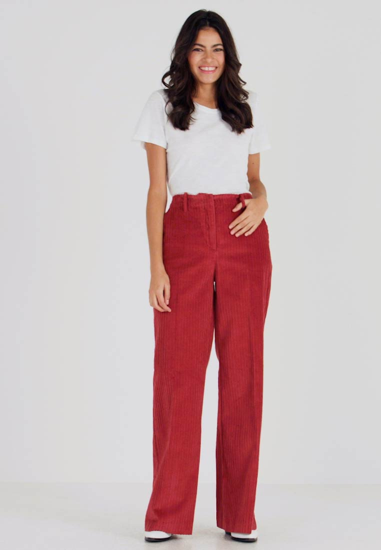 Benetton - WIDE LEG PANT - Kalhoty - toffee brown - 1