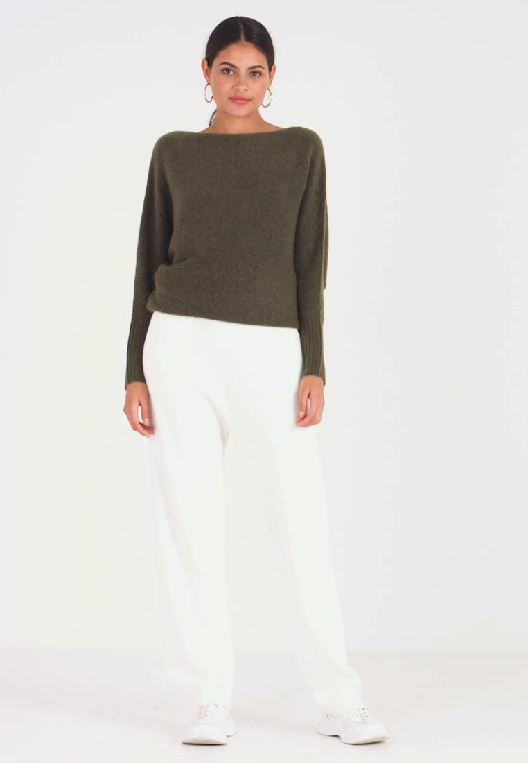 Benetton - EASY PANTS - Trousers - ivory - 1