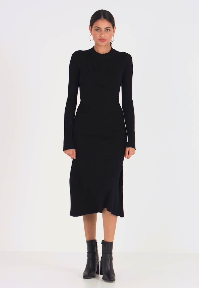 AllSaints - NALA DRESS - Gebreide jurk - black - 1