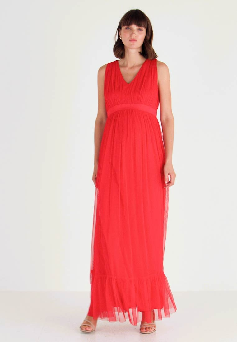 Anaya with love Maternity - V FRONT DRESS WITH BOW AND GATHERED - Abito da sera - poppy red - 1