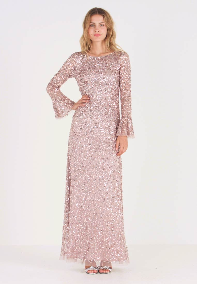 Adrianna Papell - BEADED LONG DRESS - Occasion wear - cameo - 1