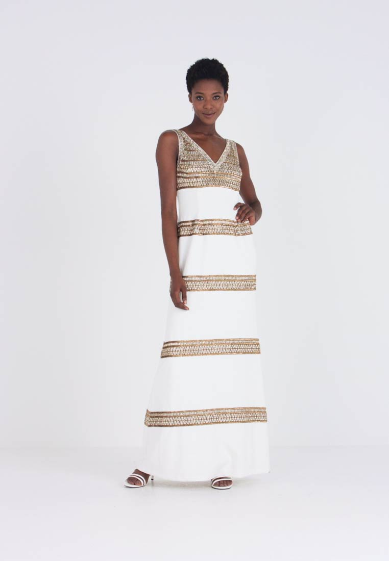 Adrianna Papell - BEADED LONG DRESS - Occasion wear - ivory/gold - 1