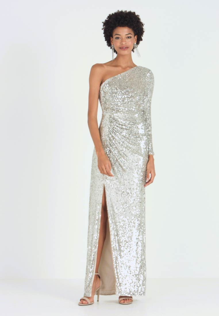 Adrianna Papell - SEQUIN DRAPED GOWN - Iltapuku - silver - 1