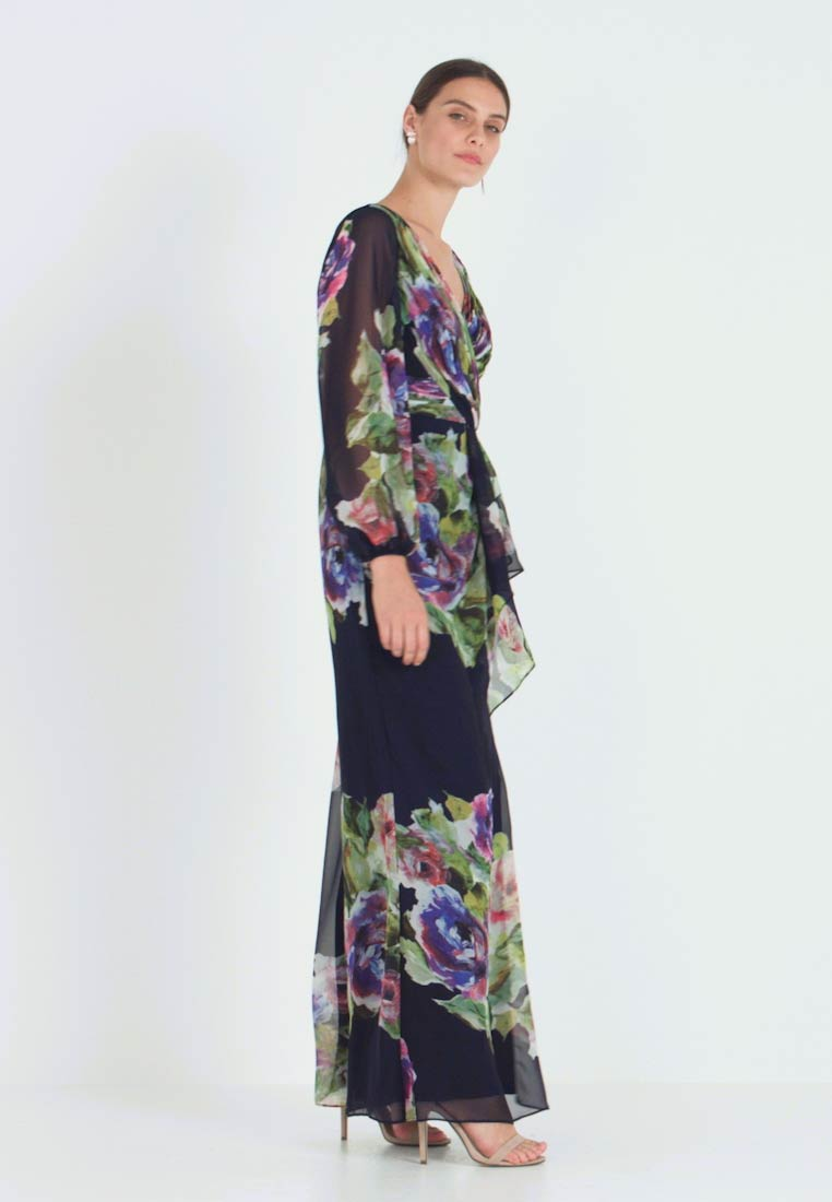 Adrianna Papell - FLORAL PRINTED GOWN - Vestido de fiesta - navy multi - 1