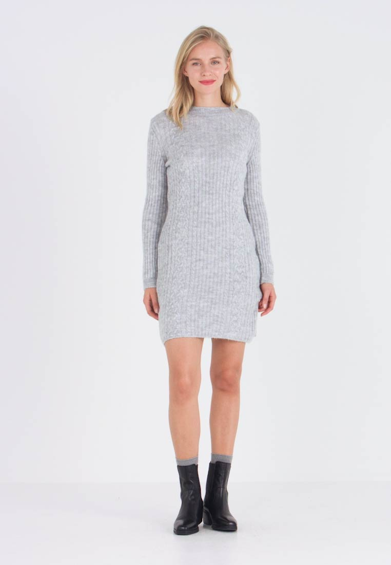 Anna Field - Strikket kjole - light grey marl - 1