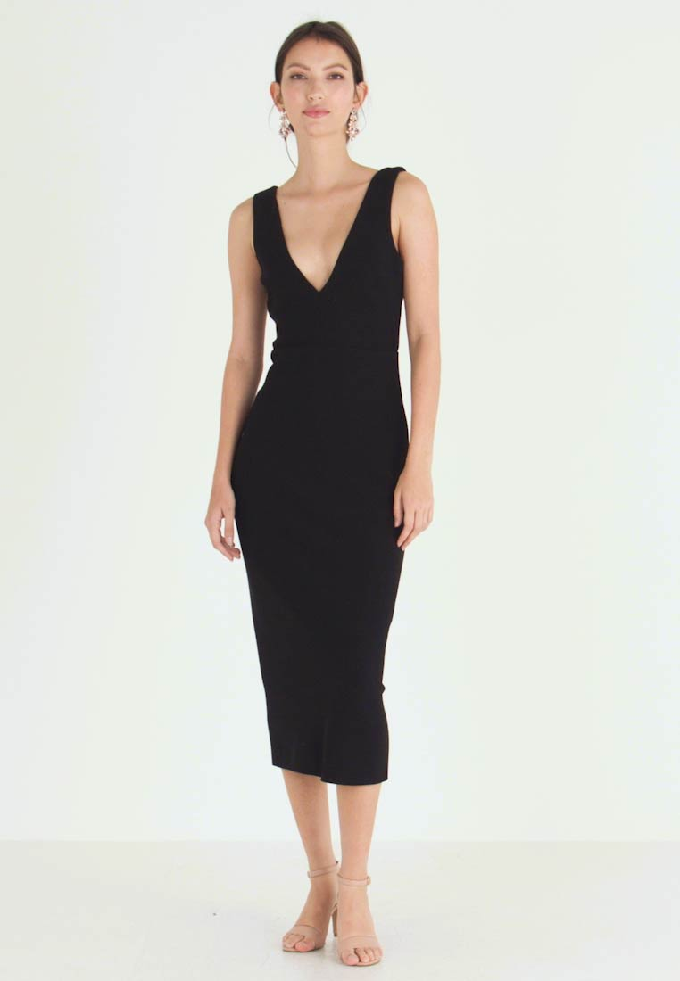 Bec & Bridge - ELKE MIDI DRESS - Fodralklänning - black - 1