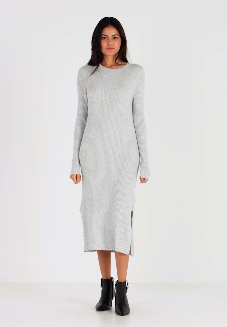 Banana Republic - COLUMN DRESS - Neulemekko - light grey heather - 1