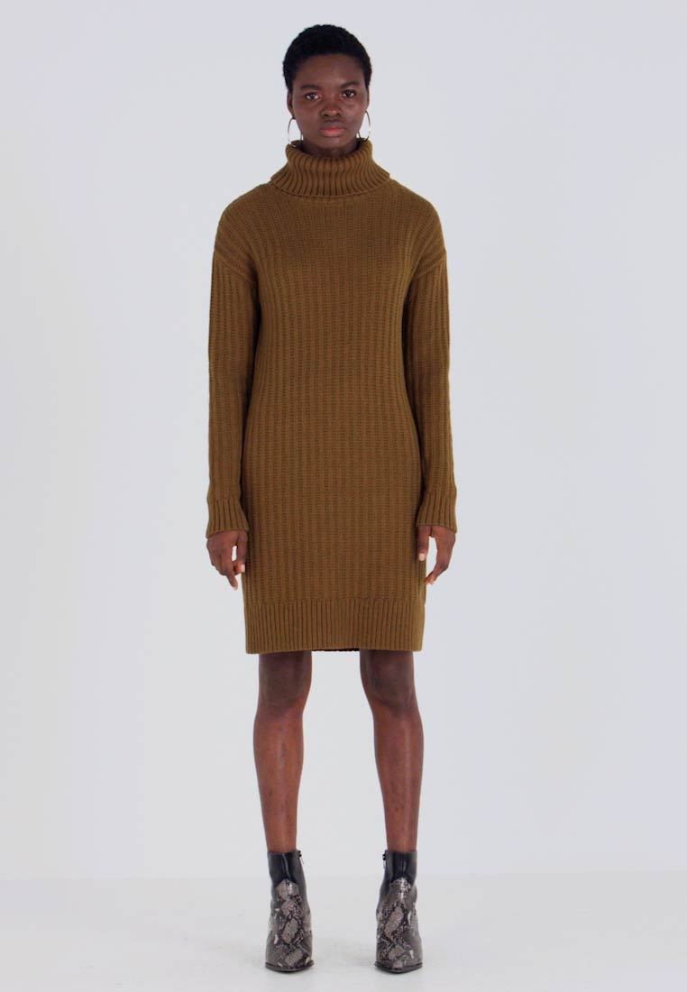 Banana Republic - CABLE SWEATER SHIFT - Jumper dress - cindered olive - 1