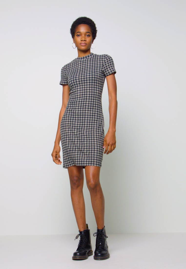 Cotton On - TOBY MINI DRESS - Shift dress - black - 1