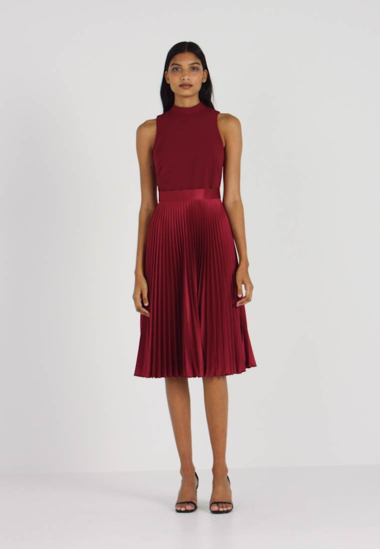 Closet - PLEATED SKIRT DRESS - Juhlamekko - burgundy - 1