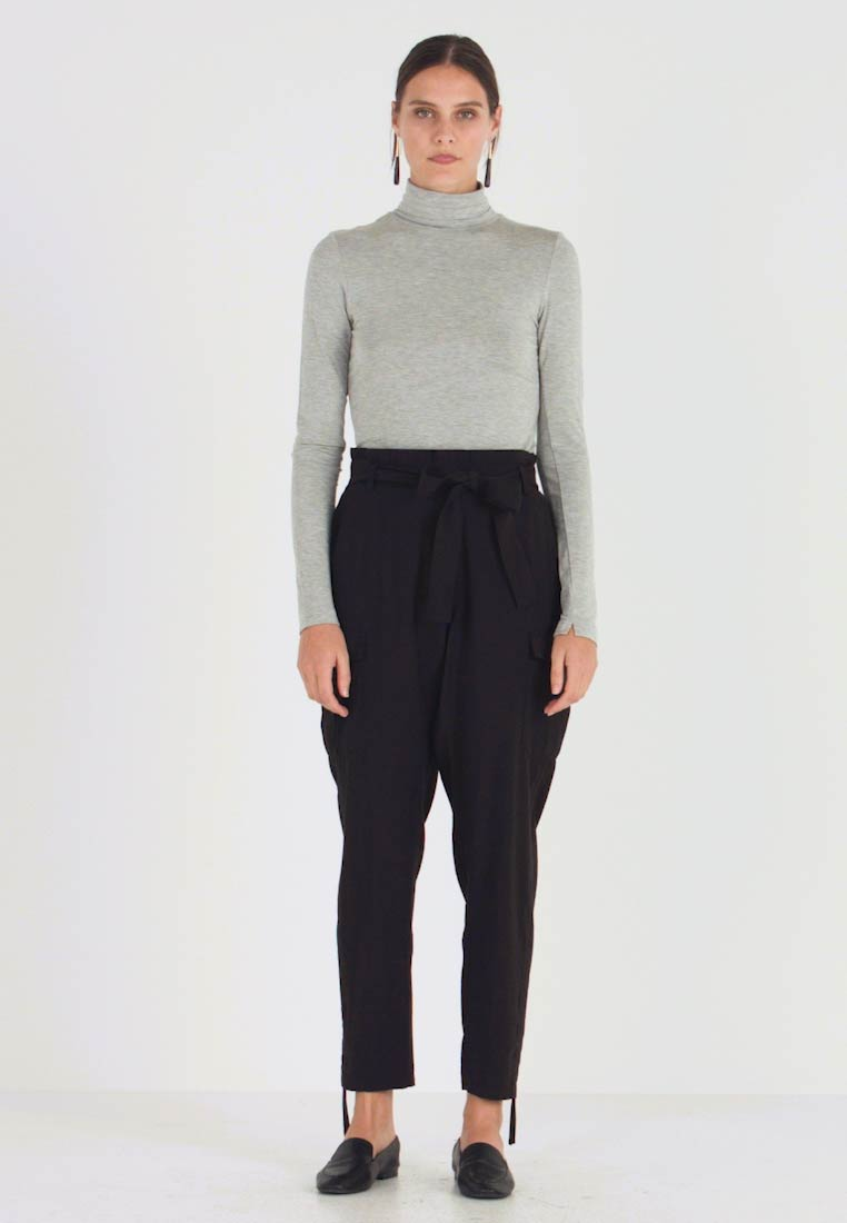 Cream - LONA PANTS - Broek - pitch black - 1
