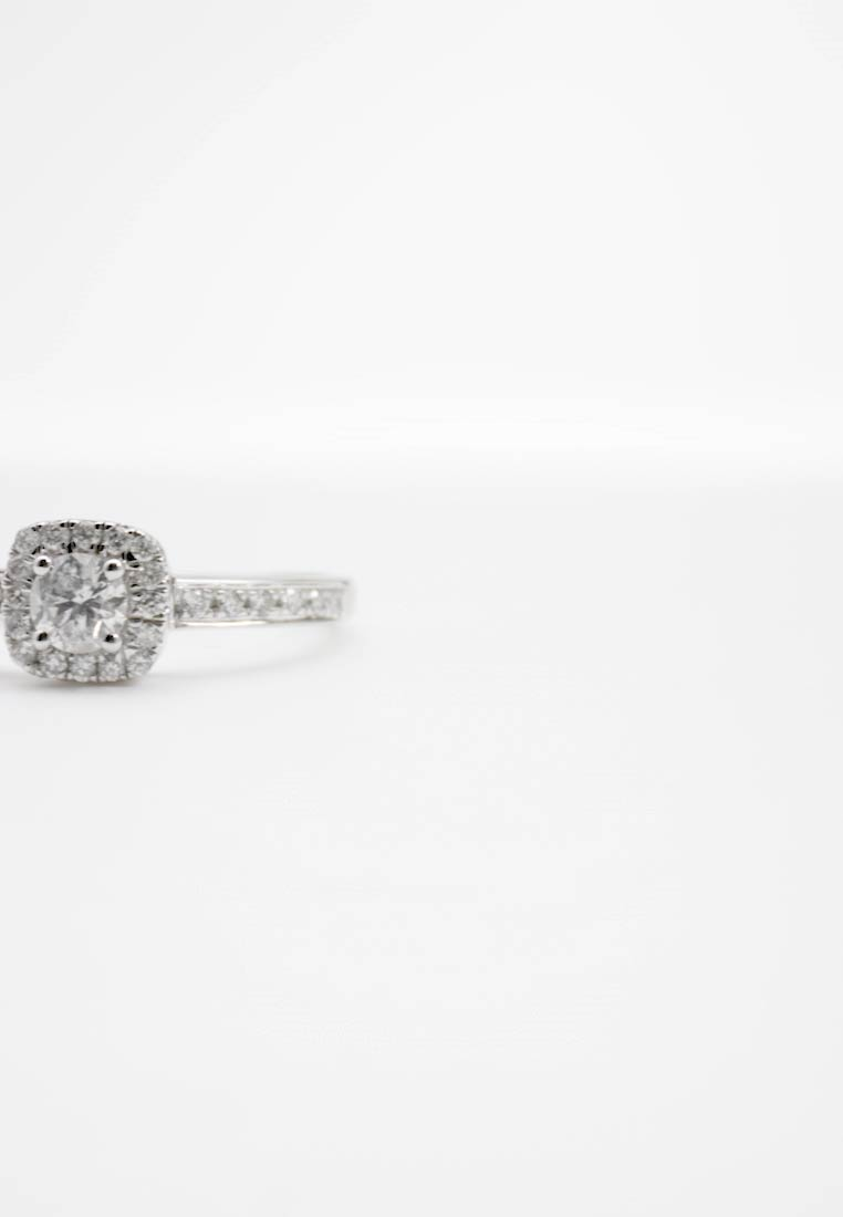 DIAMANT L'ÉTERNEL - 9KT WHITE GOLD 0.40CT CERTIFIED DIAMOND FASHION RING - Prsten - silver-coloured - 1