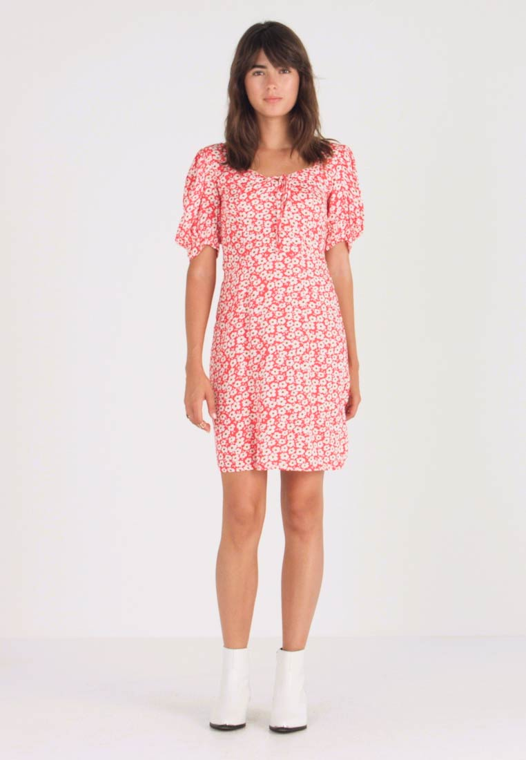 Dorothy Perkins - FLORAL DITSY TEA DRESS - Vestido informal - red - 1