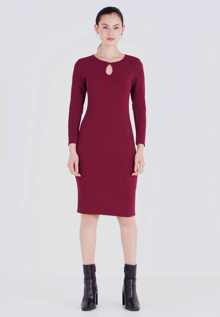 Dorothy Perkins - LONG SLEEVE KEYHOLE BODYCON - Etuikjole - purple - 1