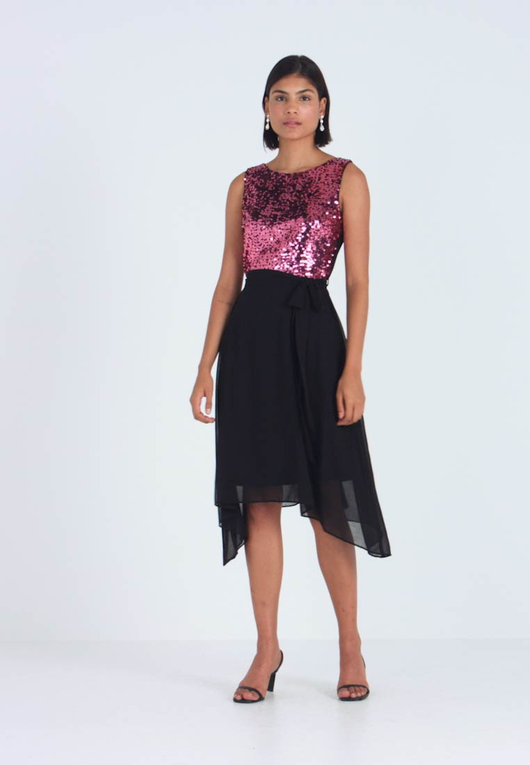 Dorothy Perkins - SEQUIN BODICE FIT AND FLARE MIDI - Juhlamekko - oxblood - 1
