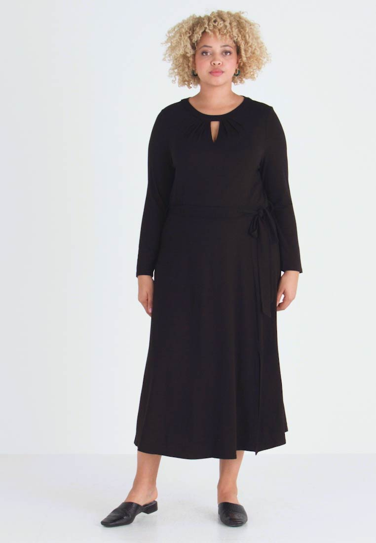Dorothy Perkins Curve - KEYHOLE MIDI DRESS - Jerseykjole - black - 1