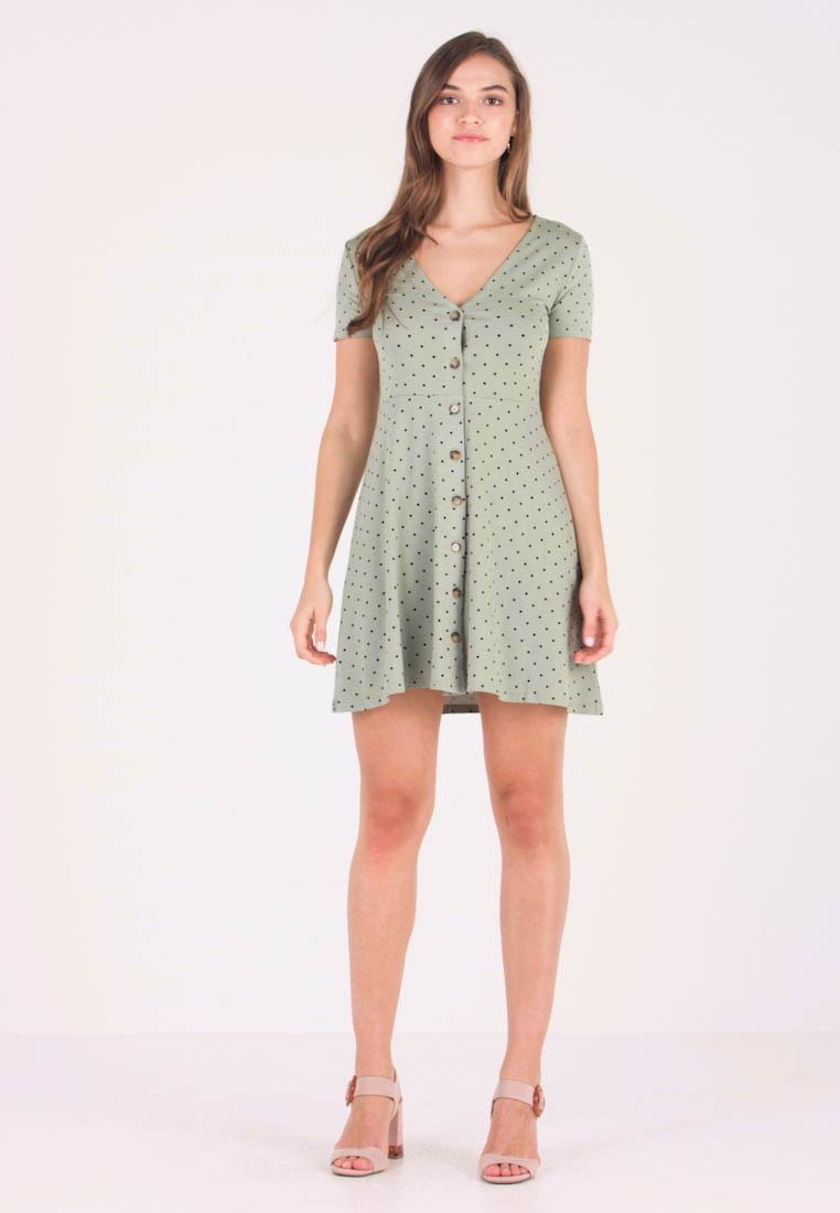 Envii - ENMUSIC DRESS - Jersey dress - light green/black - 1