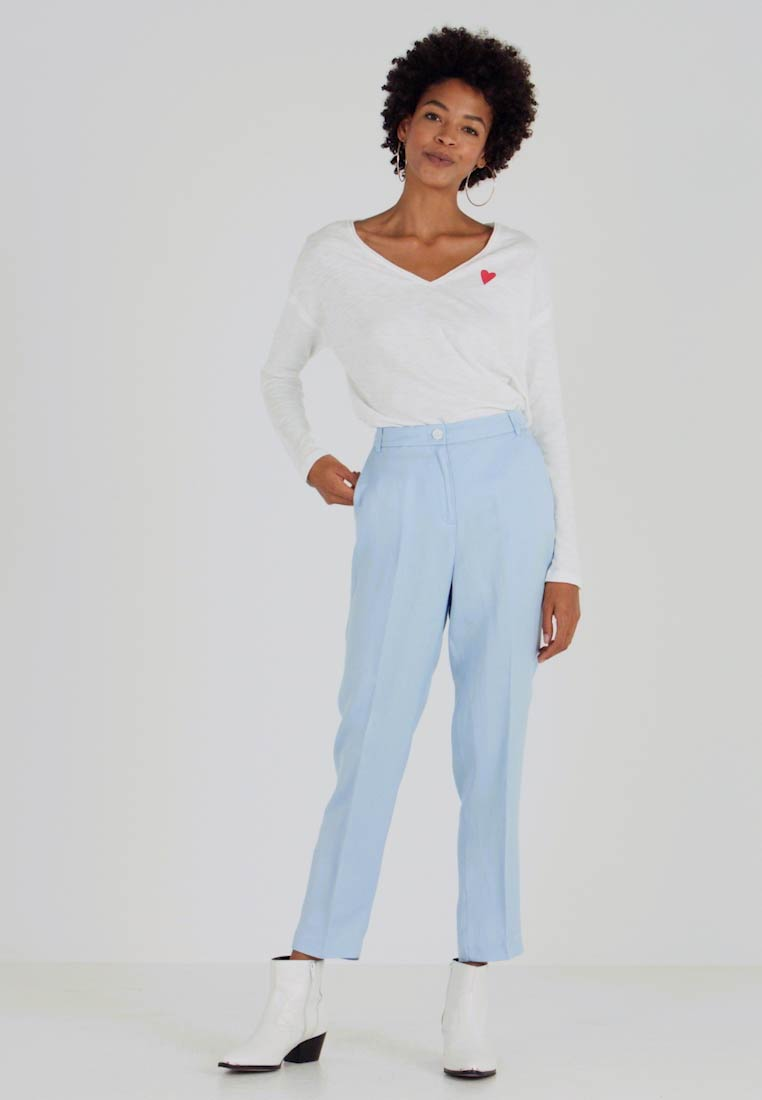 Esprit Collection - FLARED PANT - Spodnie materiałowe - light blue - 1
