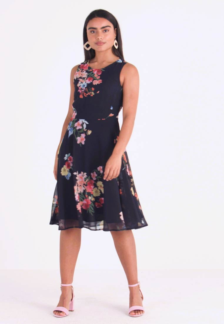 Esprit Collection Petite - FLUENT GEORGE DRESSES MIDI - Day dress - navy - 1