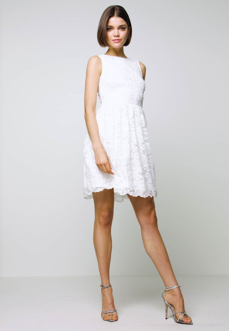 Even&Odd - BASIC OCCASSION MINI DRESS - Robe de soirée - white - 1