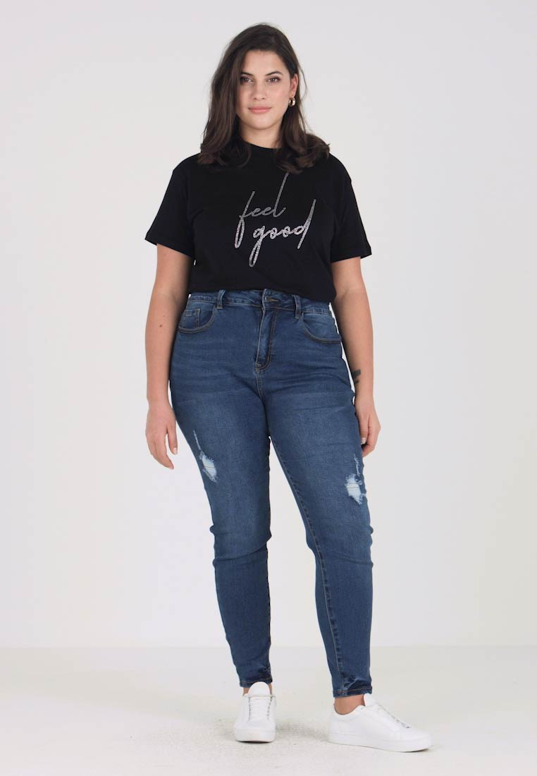 Even&Odd Curvy - Jeans Skinny Fit - dark blue - 1