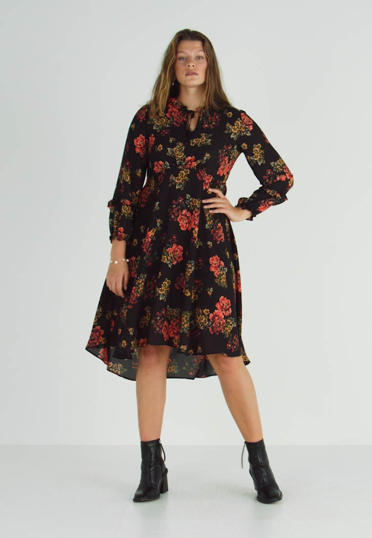 Evans - FRILL NECK  FLORAL DRESS - Denní šaty - multi - 1