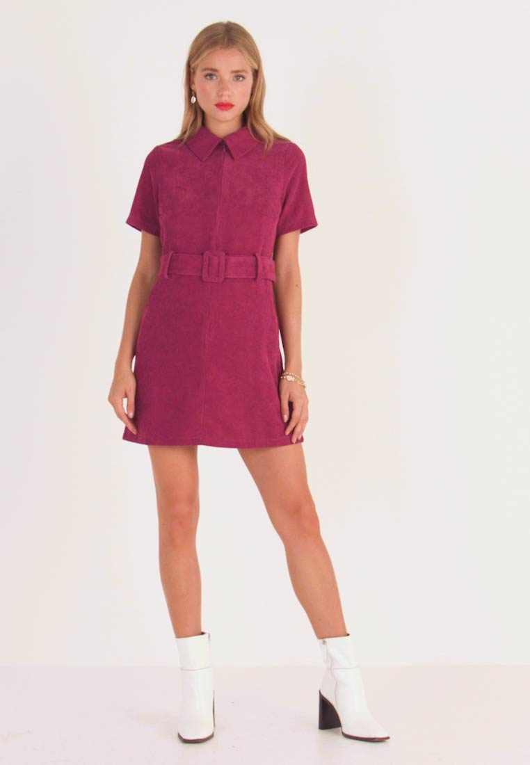Fashion Union Petite - RIO FASHION UNION BELTED MINI DRESS - Day dress - cranberry - 1