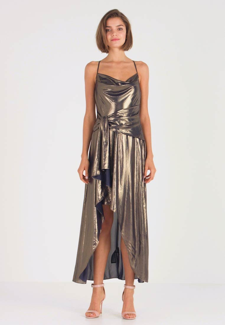 Forever New - METALLIC COWL DRESS - Occasion wear - gold - 1