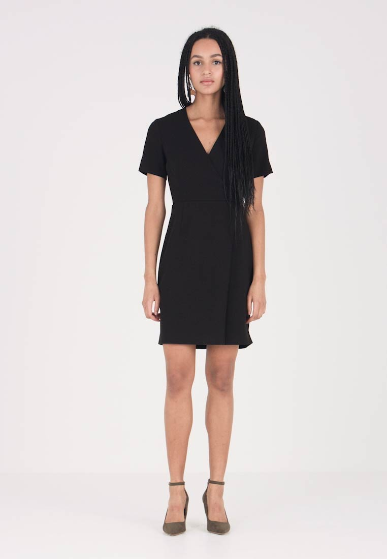 French Connection - WHISPER RUTH WRAP DRESS - Shift dress - black - 1