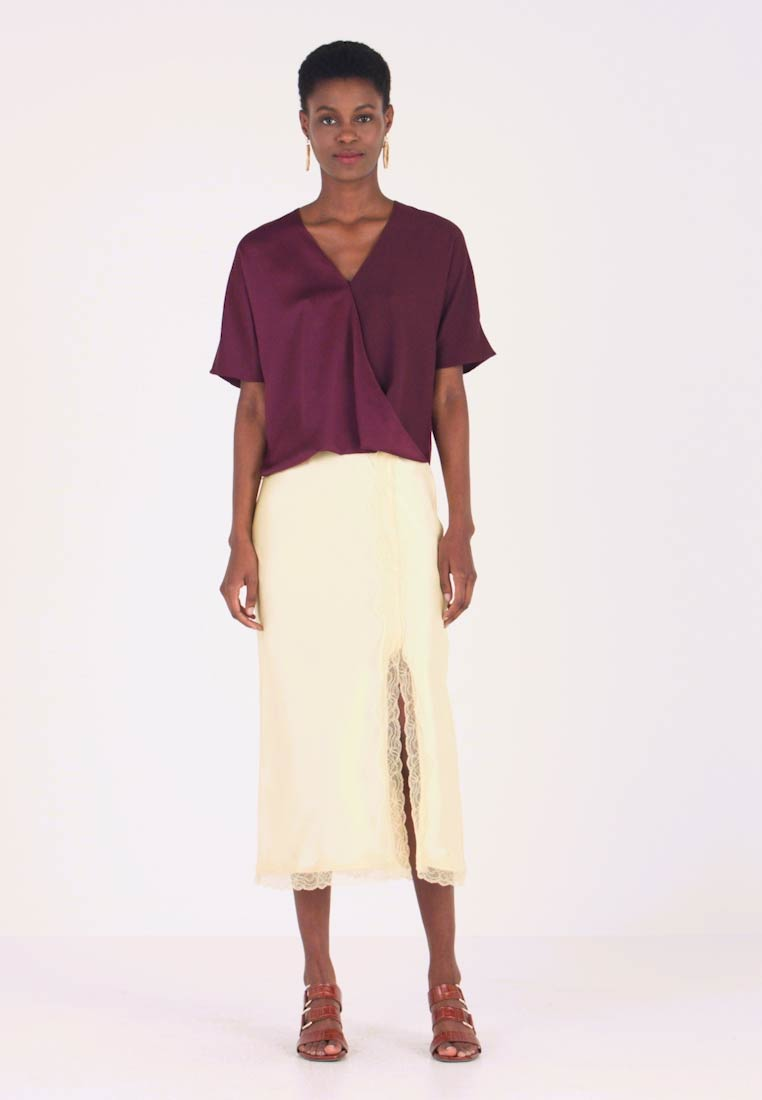 French Connection - ALESSIA WRAP  - Blouse - berry blush - 1