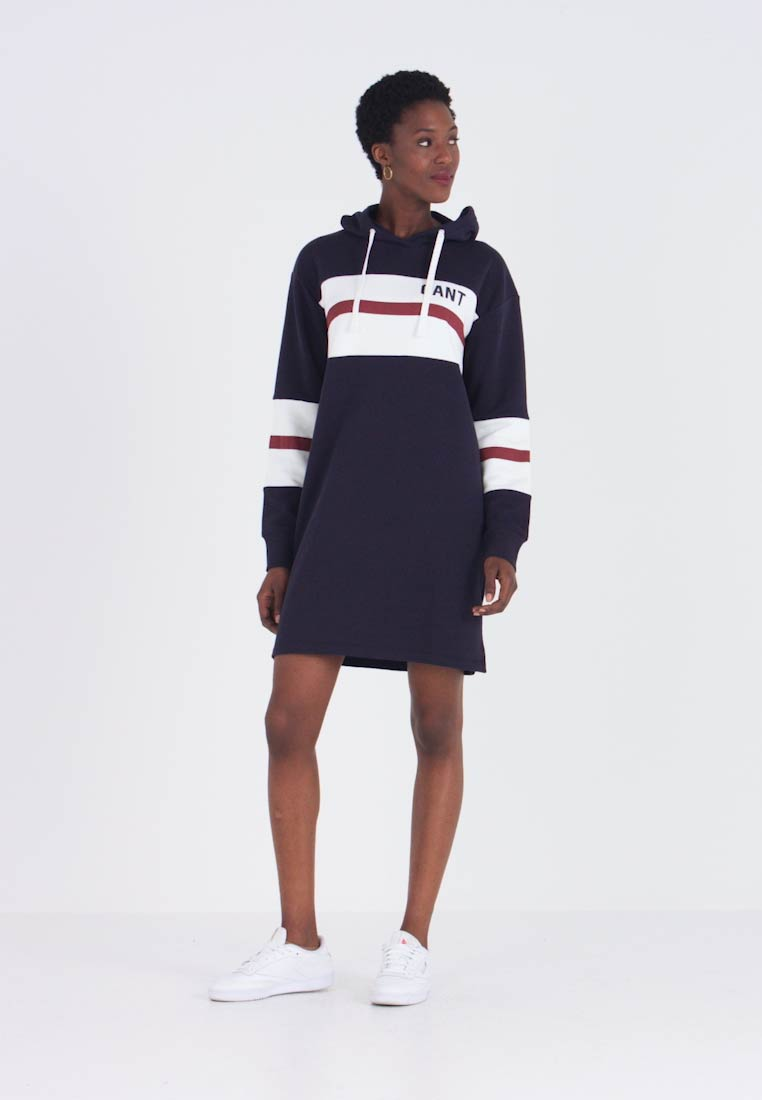 GANT - GRAPHIC BLOCK STRIPE DRESS - Denní šaty - evening blue - 1