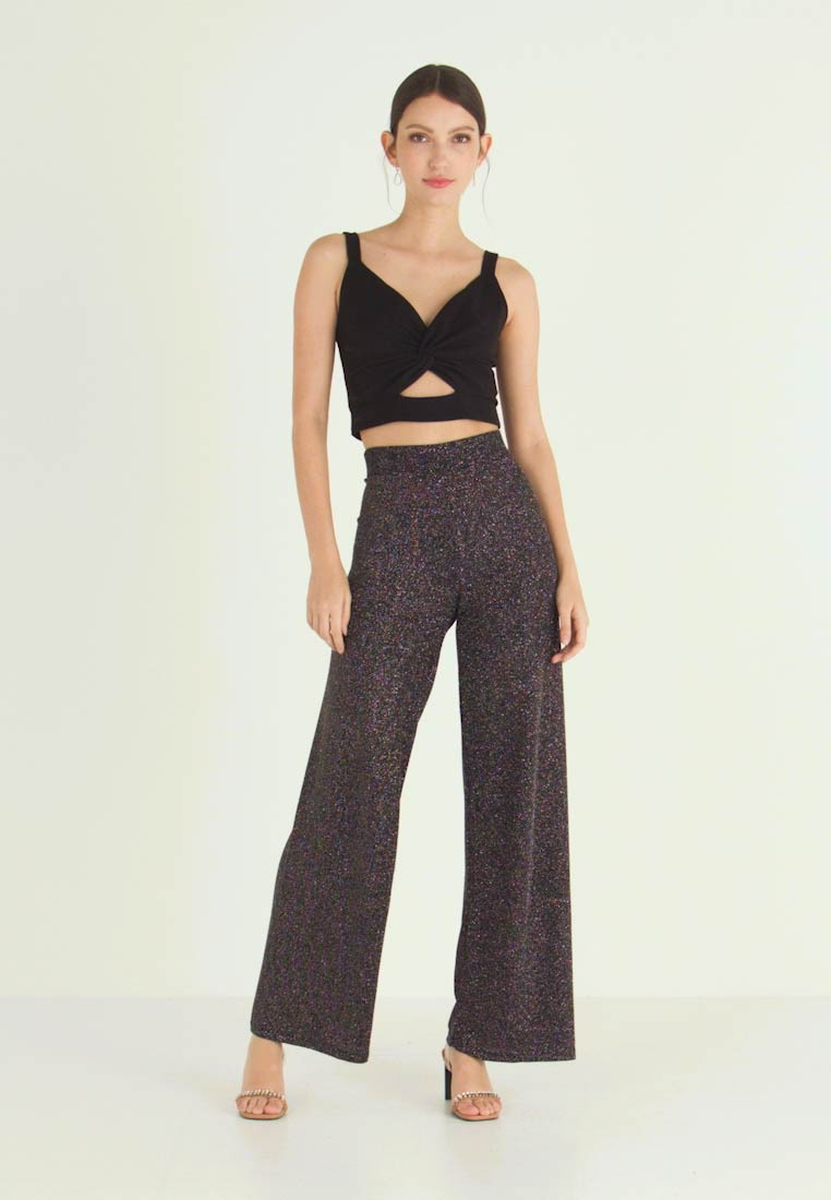 Gina Tricot - EXCLUSIVE ROXY TROUSERS - Kalhoty - black - 1