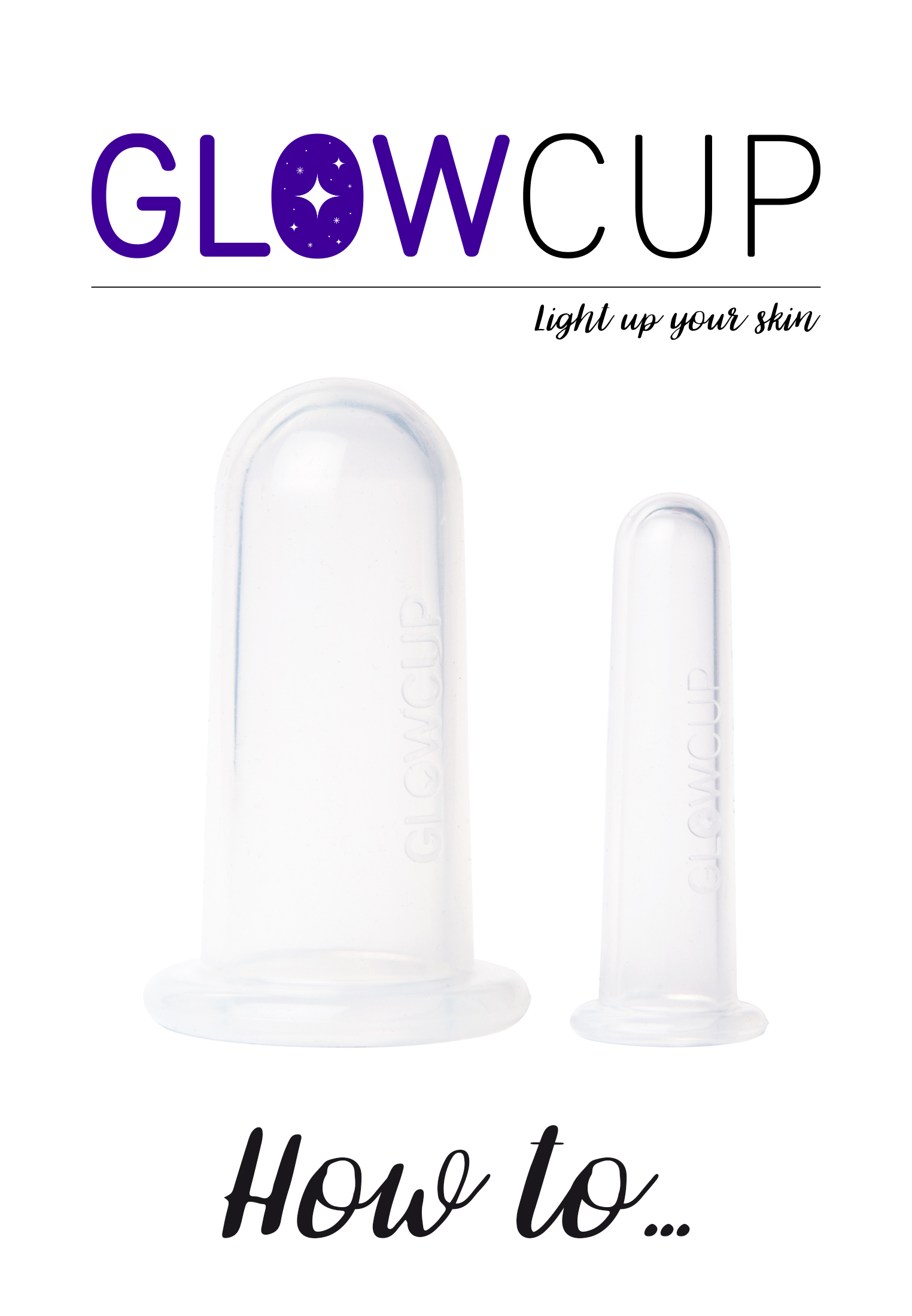 GlowCup - SILICONE FACE MASSAGE TOOL - Skincare tool - clear - 1