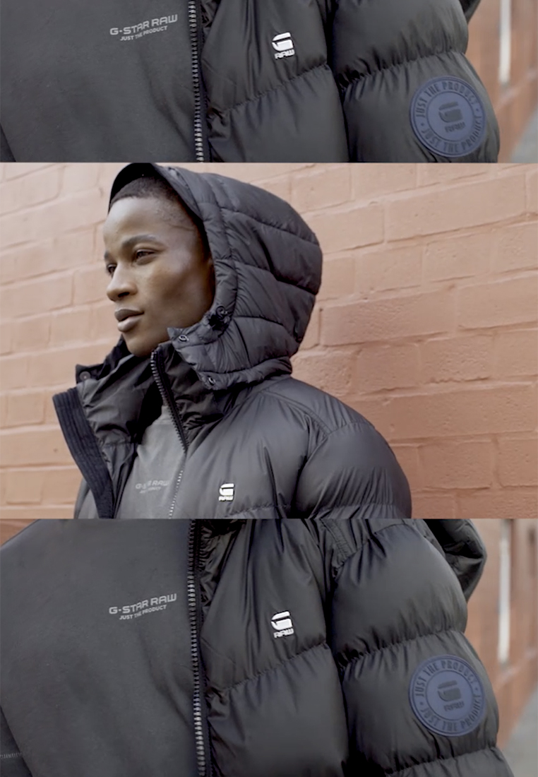 G-Star - WHISTLER PUFFER - Winter jacket - dark black - 1