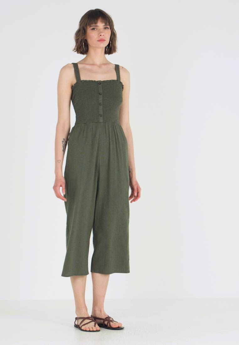 Hollister Co. - BUTTON FRONT - Overal - olive - 1