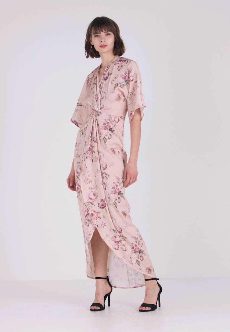 Hope & Ivy - TIE KNOT FRONT MAXI WITH KIMONO SLEEVES - Cocktailklänning - blush - 1