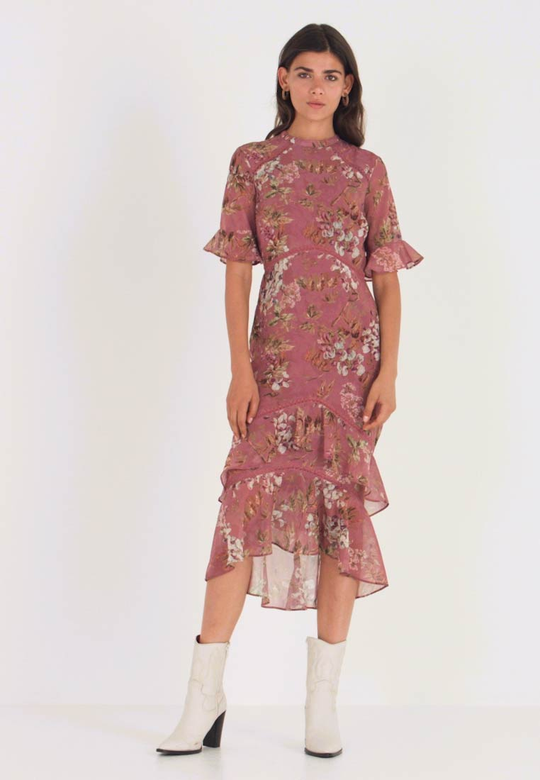 Hope & Ivy - FLUTED SLEEVE MIDI DRESS - Cocktail dress / Party dress - blush - 1