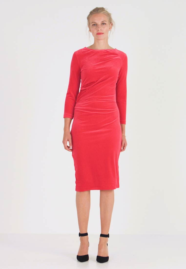 InWear - NISAS DRESS - Vestido de tubo - real red - 1