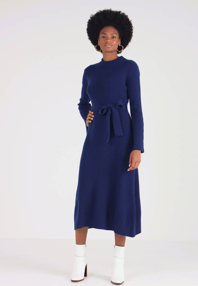IVY & OAK - MIDI DRESS - Strikket kjole - blue iris - 1