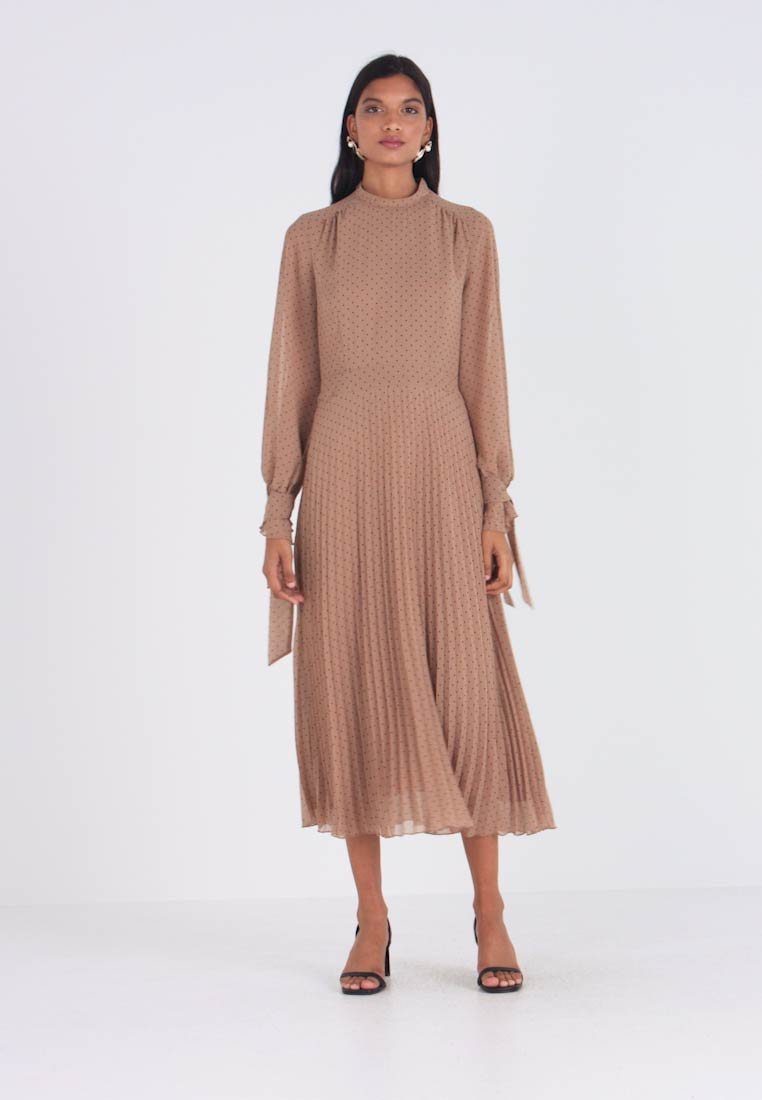 IVY & OAK - PLEATED DRESS - Denní šaty - brown - 1