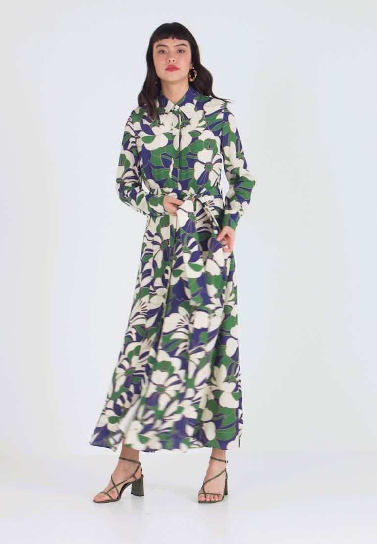 IVY & OAK - SHIRT DRESS MIDI - Maxi dress - green flower - 1