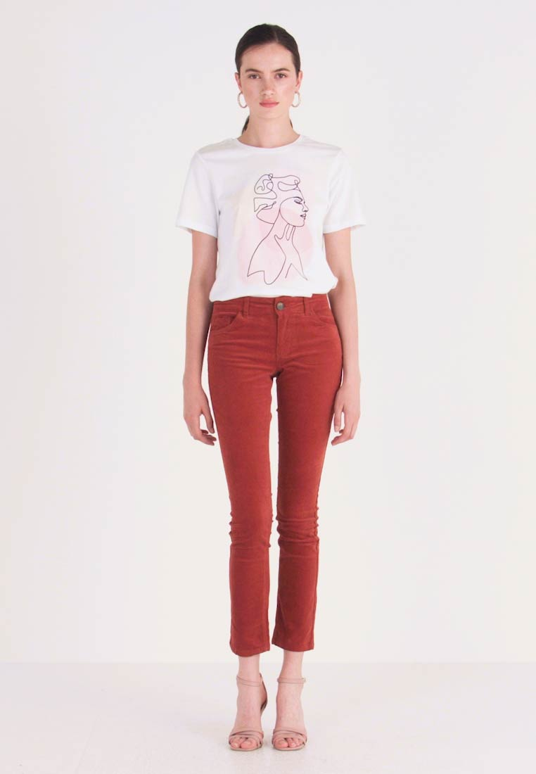JDY - Trousers - light red - 1