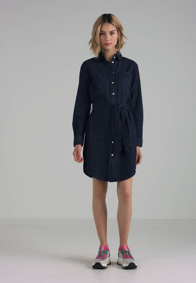 JDY - JDYESRA SHIRT DRESS  - Robe en jean - dark blue denim - 1