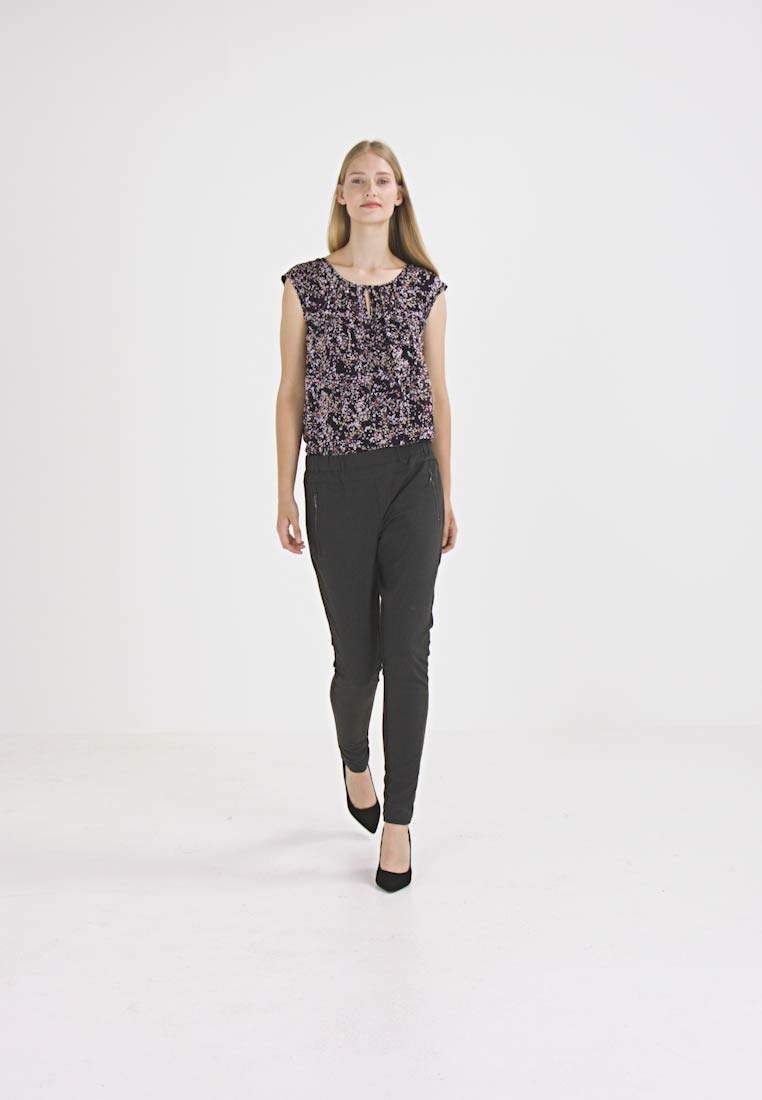 Kaffe - JILLIAN VILJA - Broek - dark grey melange - 1