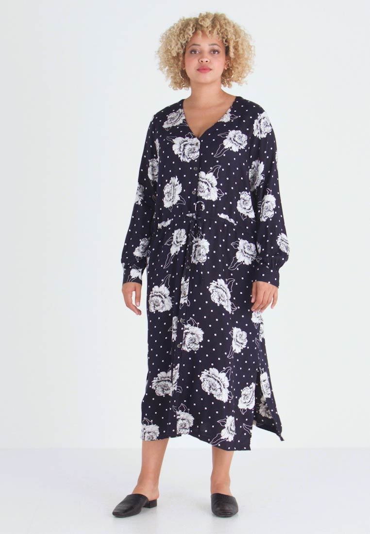 Kaffe Curve - RENA DRESS - Robe d'été - midnight marine - 1