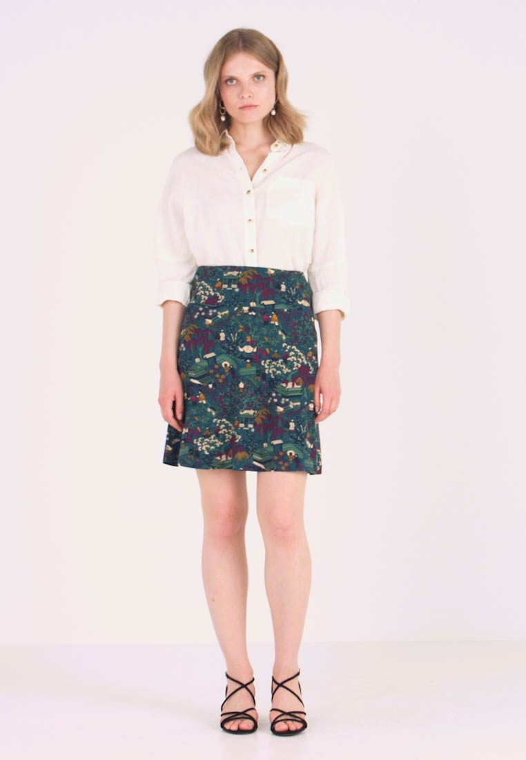 King Louie - BORDER SKIRT MANZAI - A-snit nederdel/ A-formede nederdele - autumn blue - 1