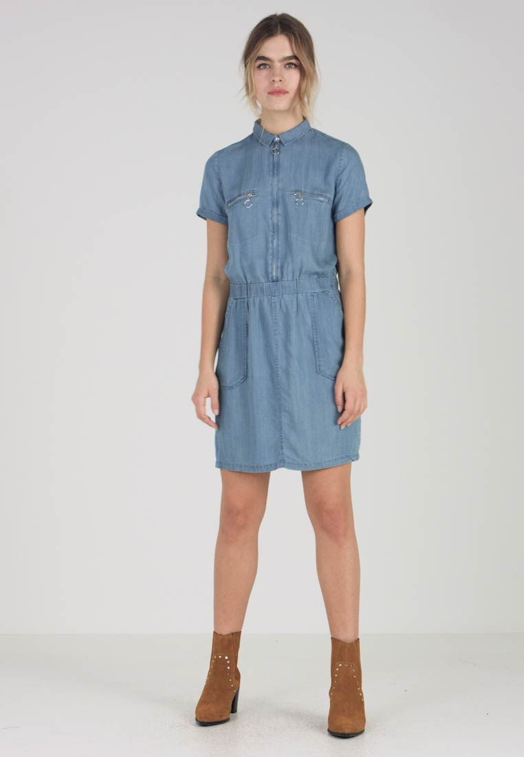 Le Temps Des Cerises - UBUD - Jeanskjole / cowboykjoler - medium blue denim - 1