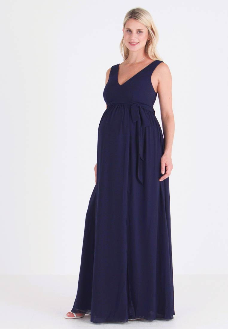 Little Mistress Maternity - EXCLUSIVE ROSE V NECK DRESS - Occasion wear - navy - 1